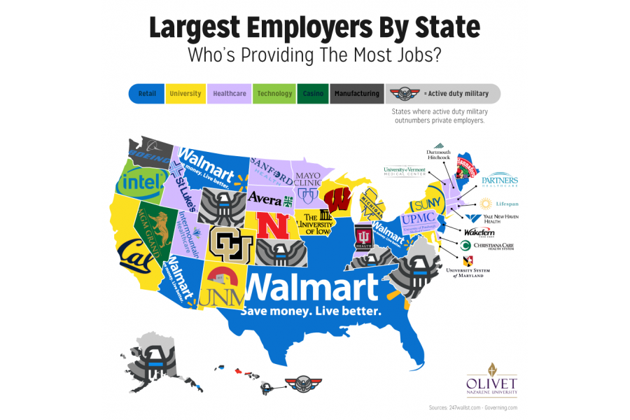 The Largest Employers in Each State